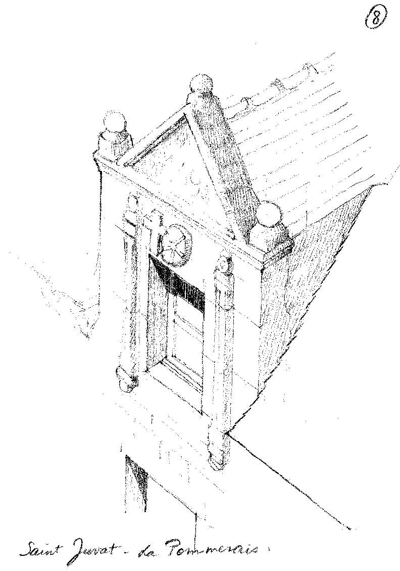 Crayonnés de Piotr Candio - Architecte du patrimoine